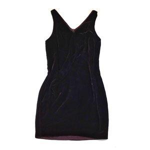Vince | Deep Red Velvet Shift Dress | Size: 8